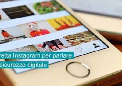 Diretta Instagram per parlare di sicurezza digitale