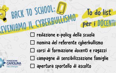 Back to school: Preveniamo il cyberbullismo